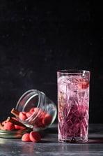Cocktail Sparkling aux fraises Tagada et à la cannelle