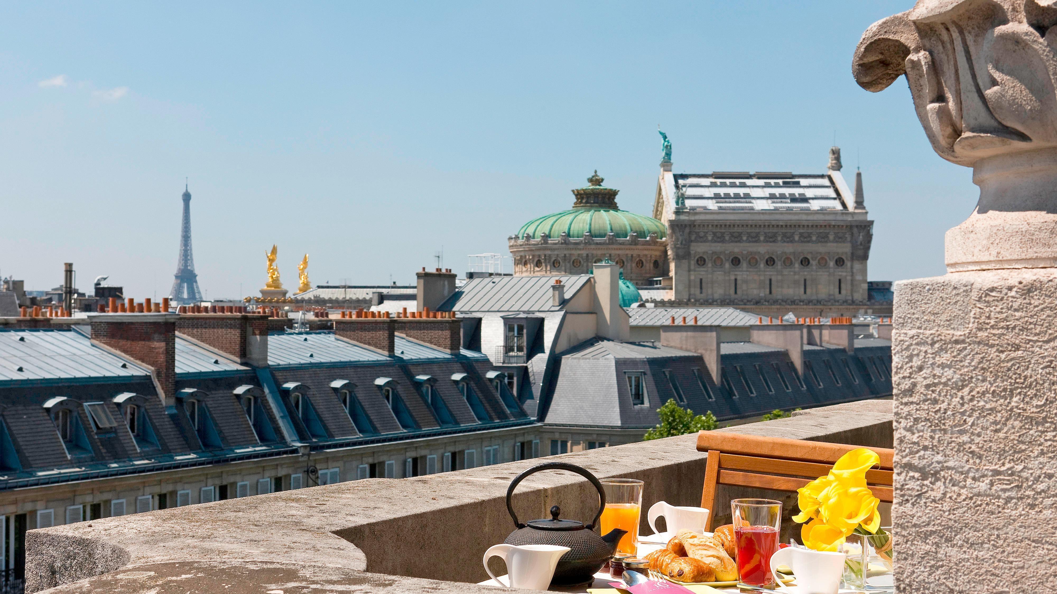 Paris view hotel room