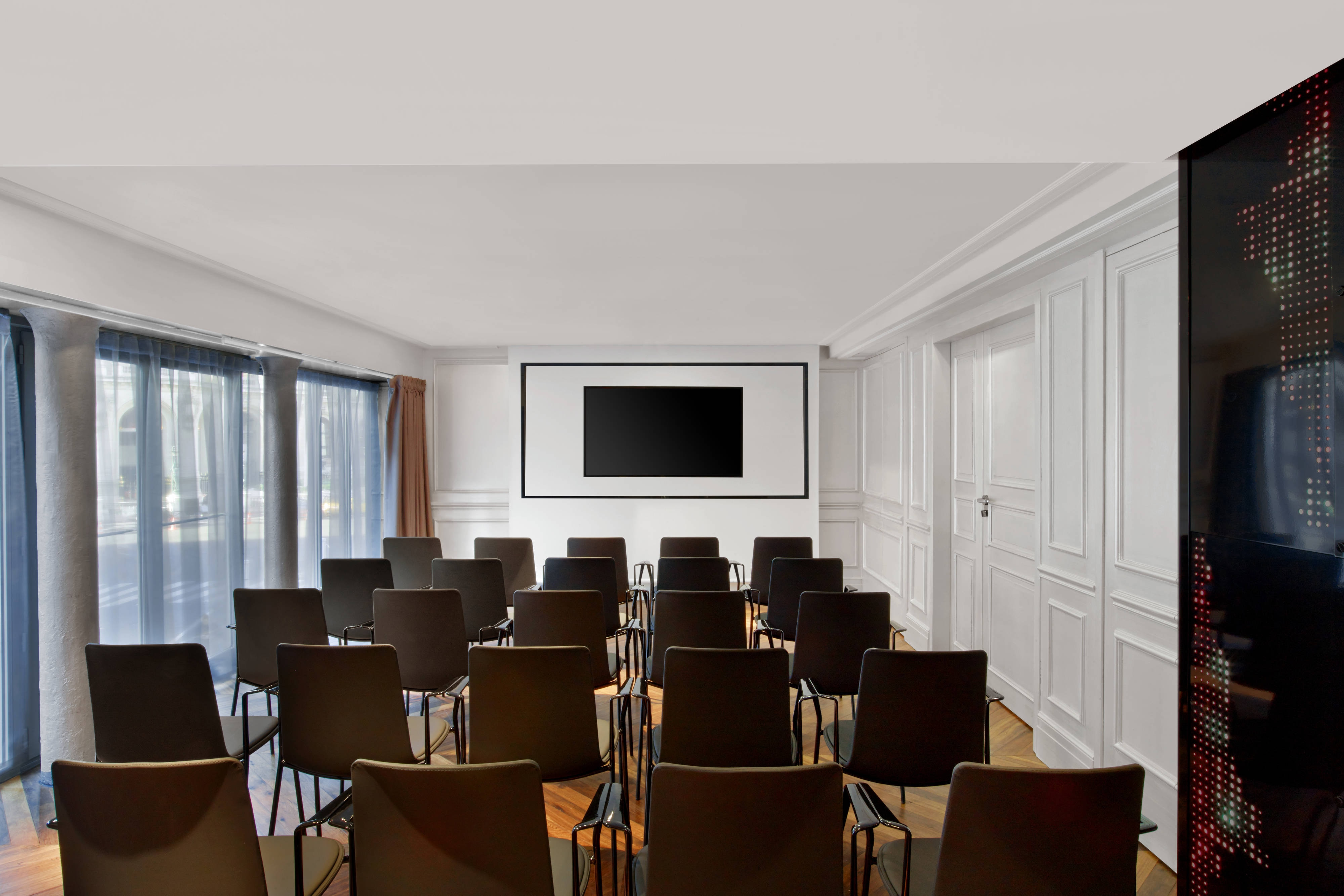 Theater with TV screen