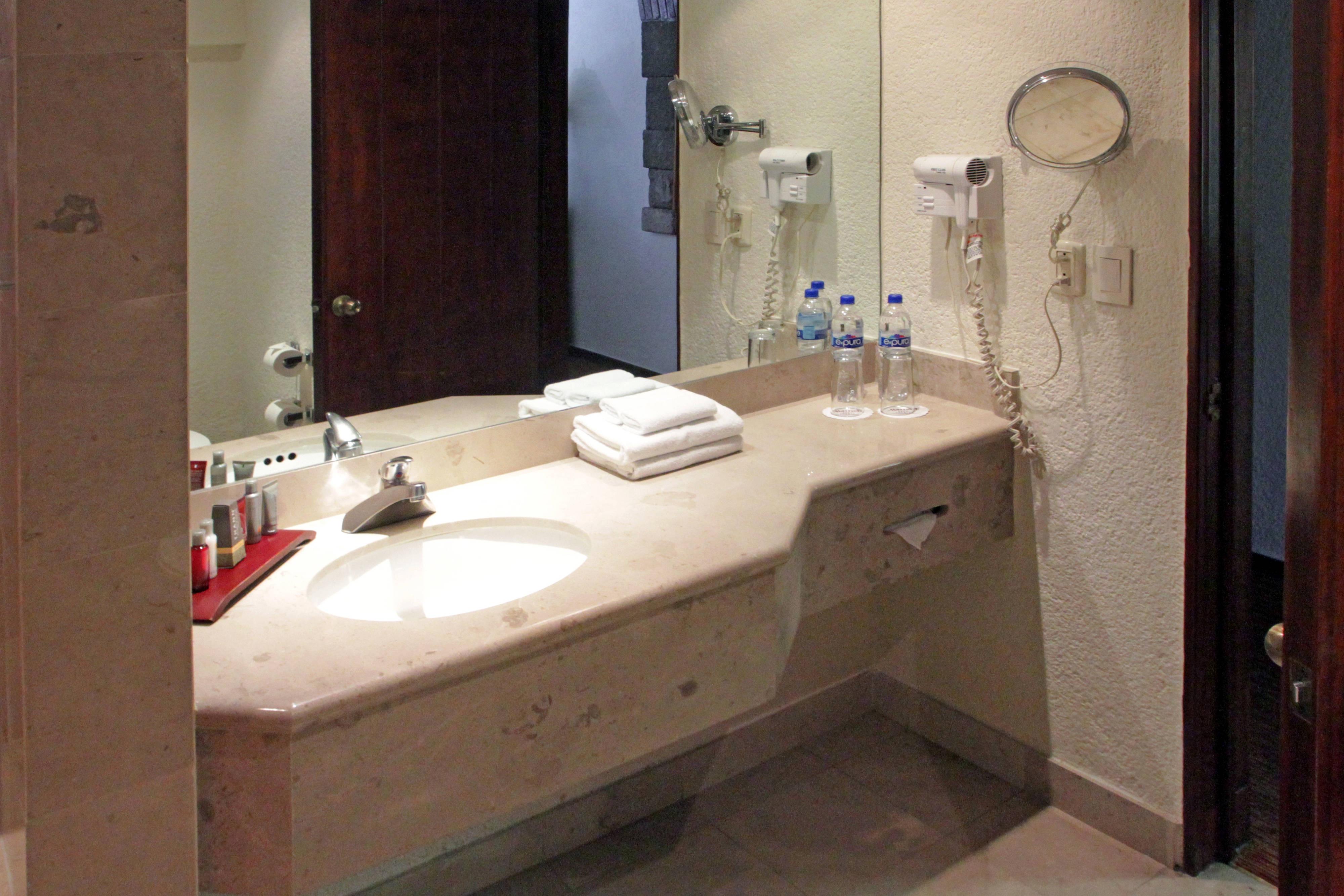 Artículos de tocador de cortesía del hotel en Puebla