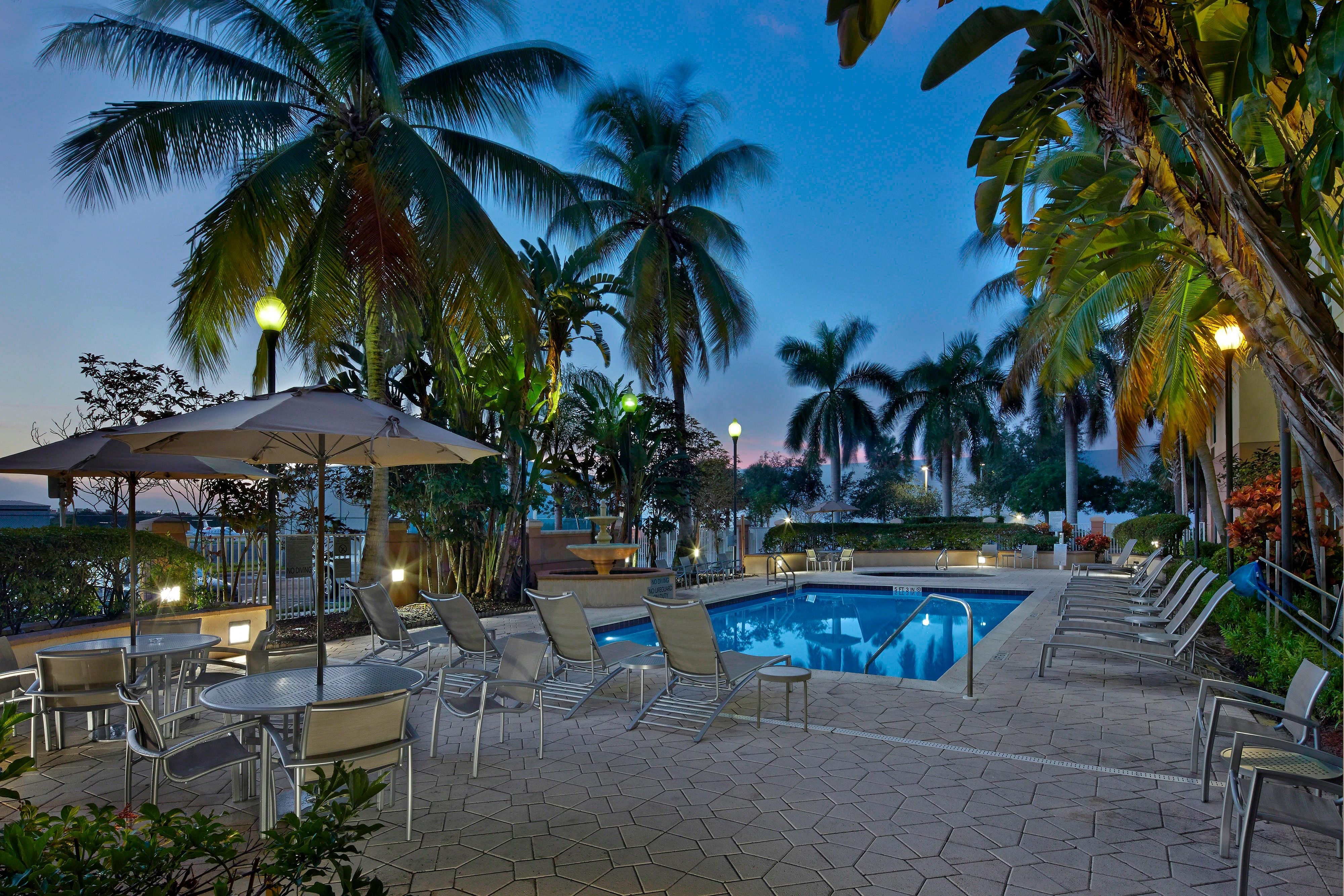 Outdoor Tropical Pool