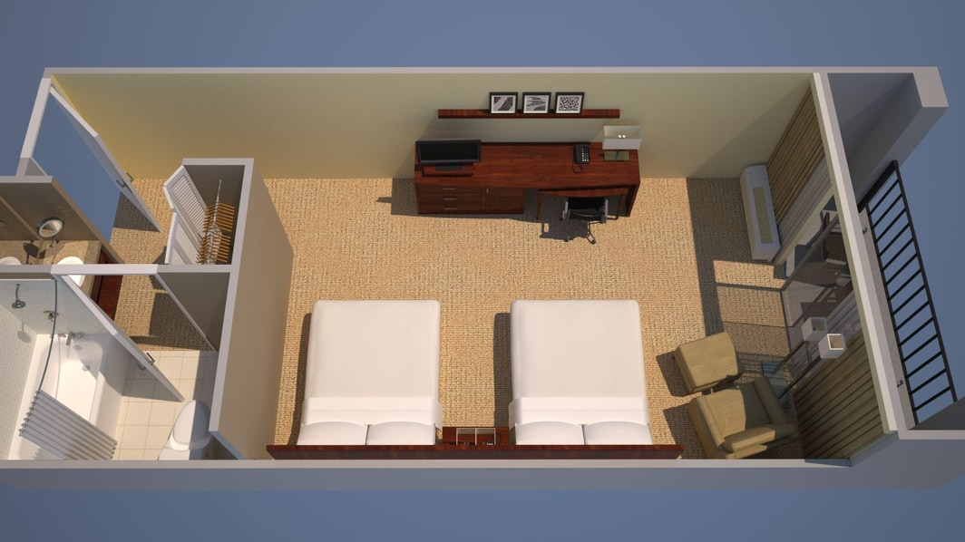 Guest Room, Floor Plan