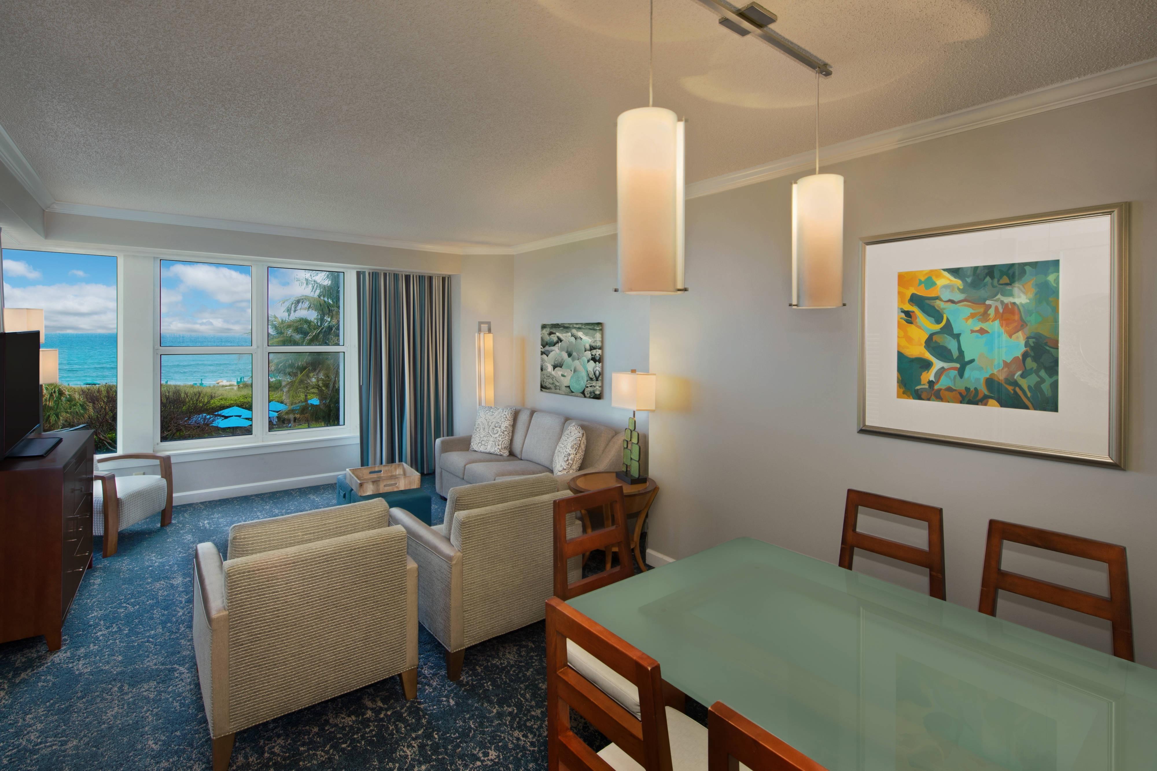 Oceanfront Villa - Living Area