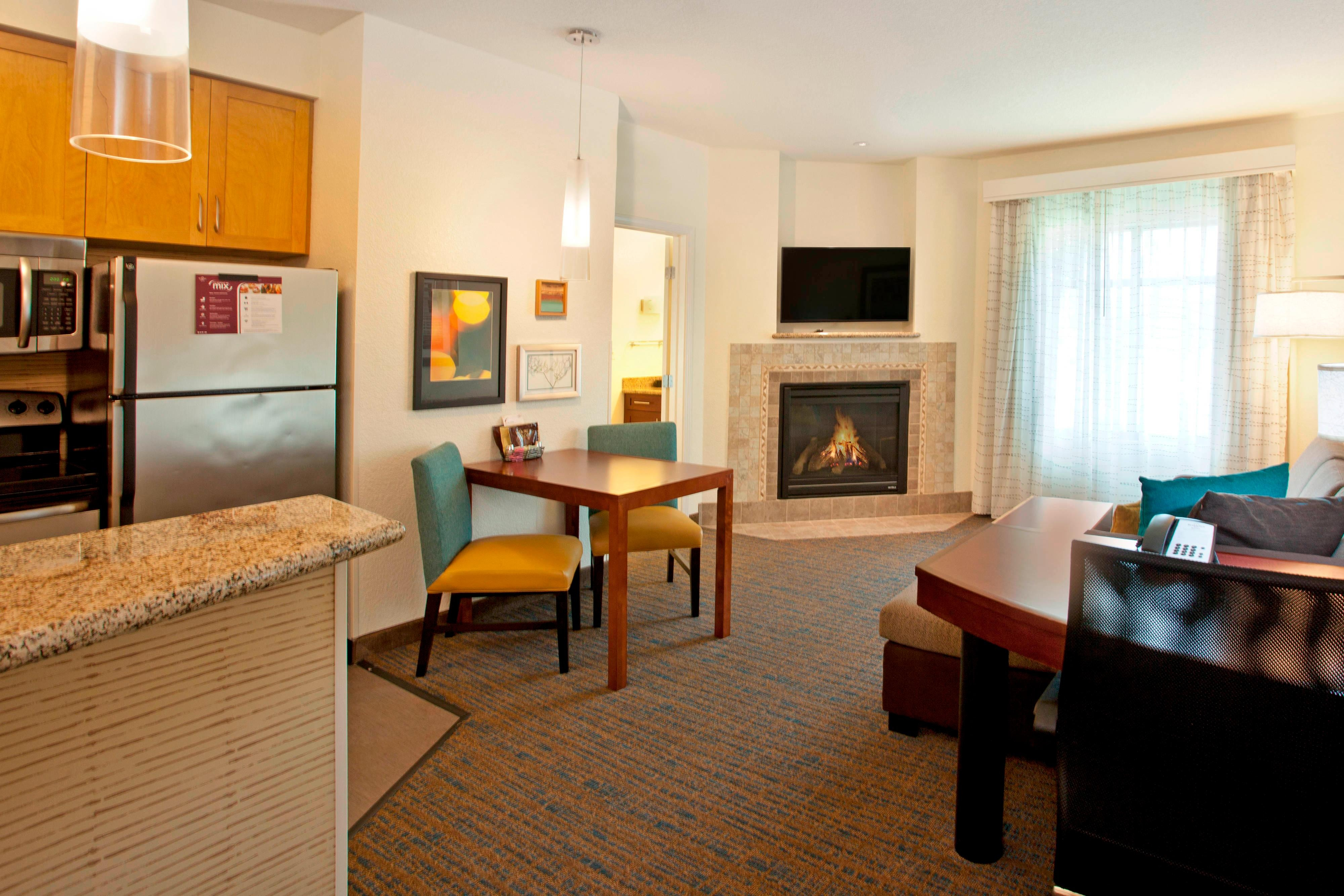 One-Bedroom Suite Fireplace