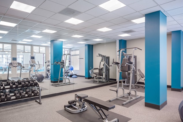 Fitness Center Portland RiverPlace Marriott Hotel