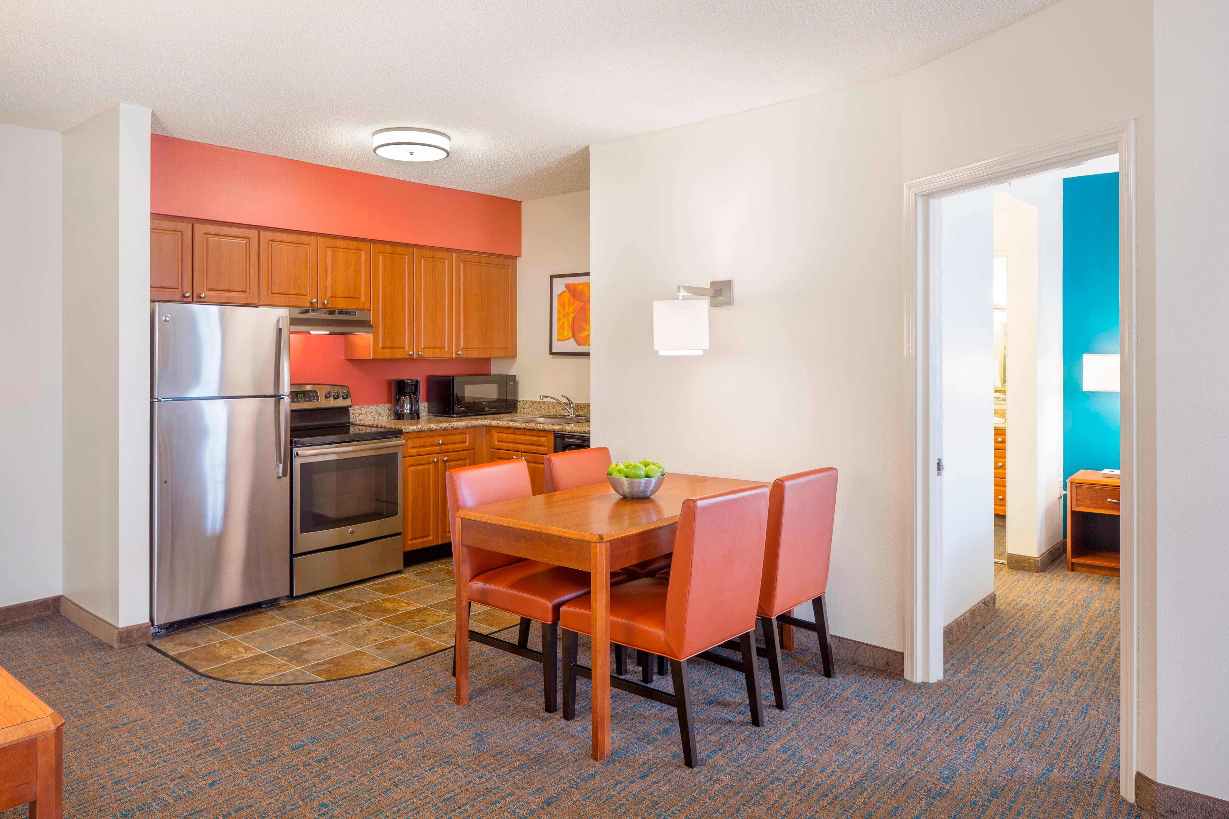 kitchen extended stay hotel Portland OR Residence Inn