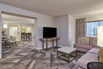 Hospitality Suite - Living Room and Dining Area
