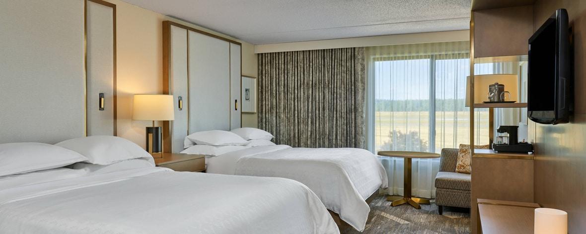 Standard-Gästezimmer mit Doppelbetten