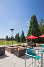 outdoor fire pit TownePlace Suites hotel in Vancouver WA
