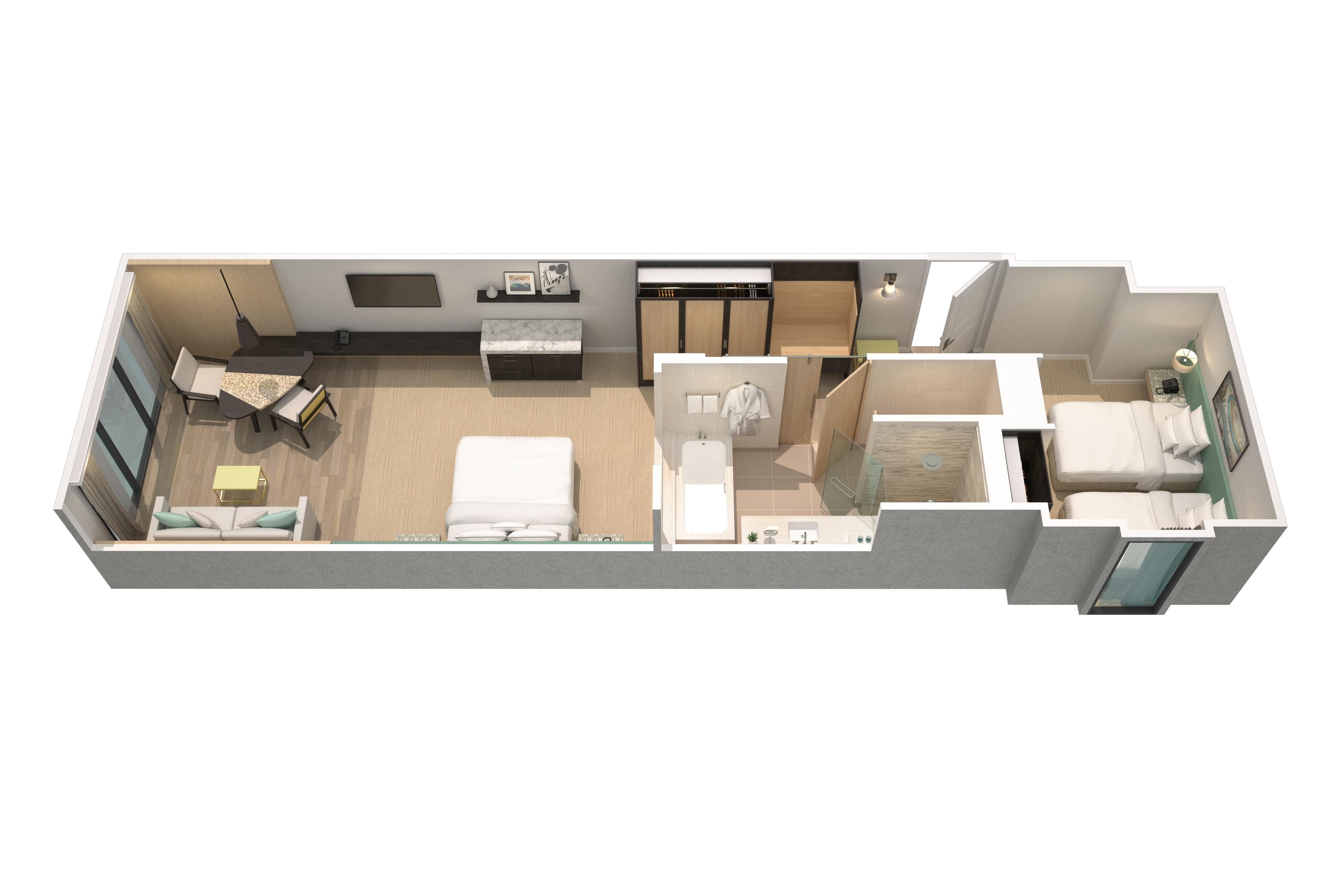 Deluxe-Gästezimmer für Familien