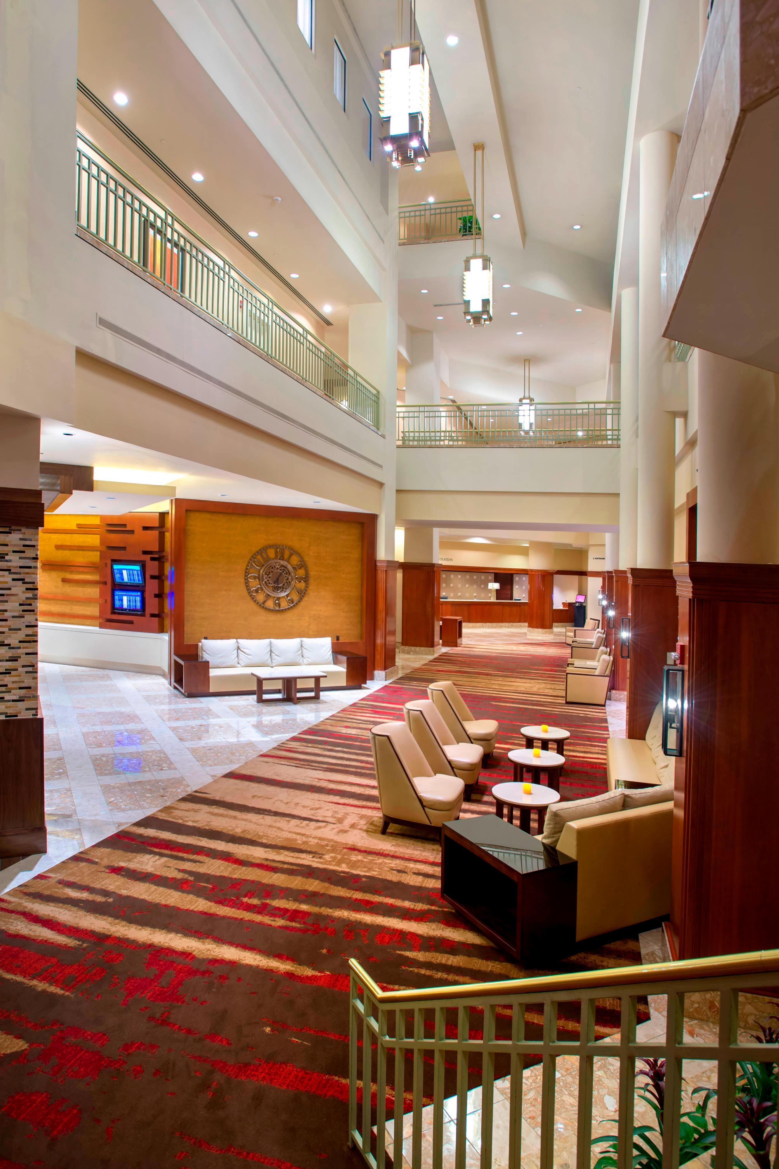 Philadelphia airport hotel lobby