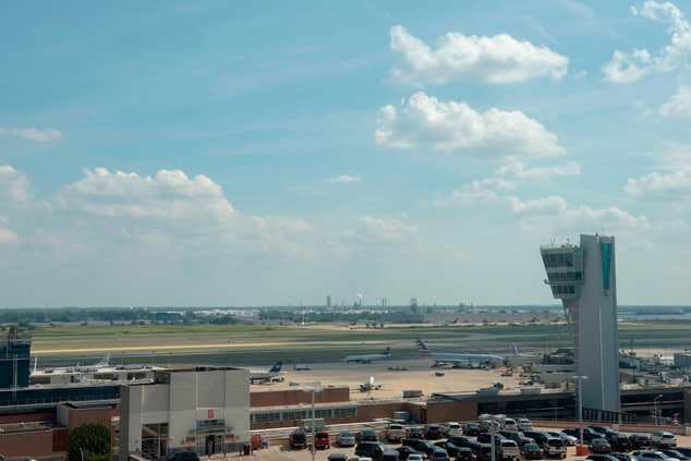 Philly airport hotel runway view