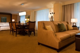 Downtown Philadelphia hotel suite