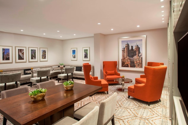 Main Lobby Lounge with Communal Table