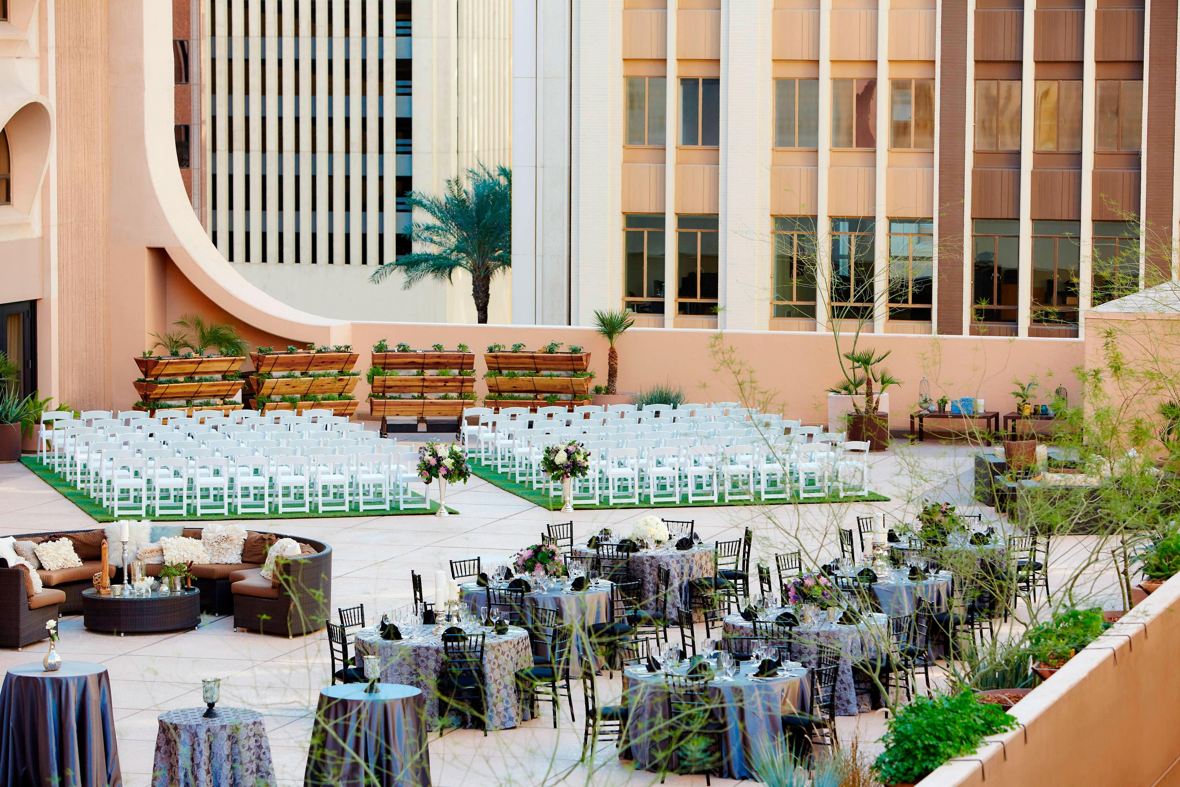 Skyline Terrace Outdoor Wedding Venue in Downtown Phoenix