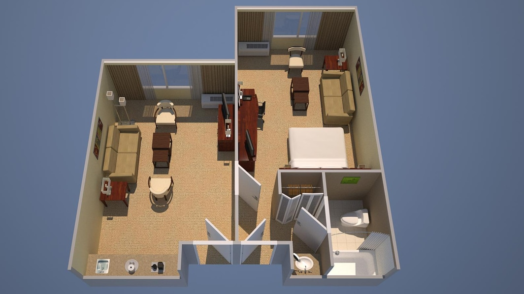 Suite mit einem Schlafzimmer, ein Kingsize-Bett, Ausziehcouch