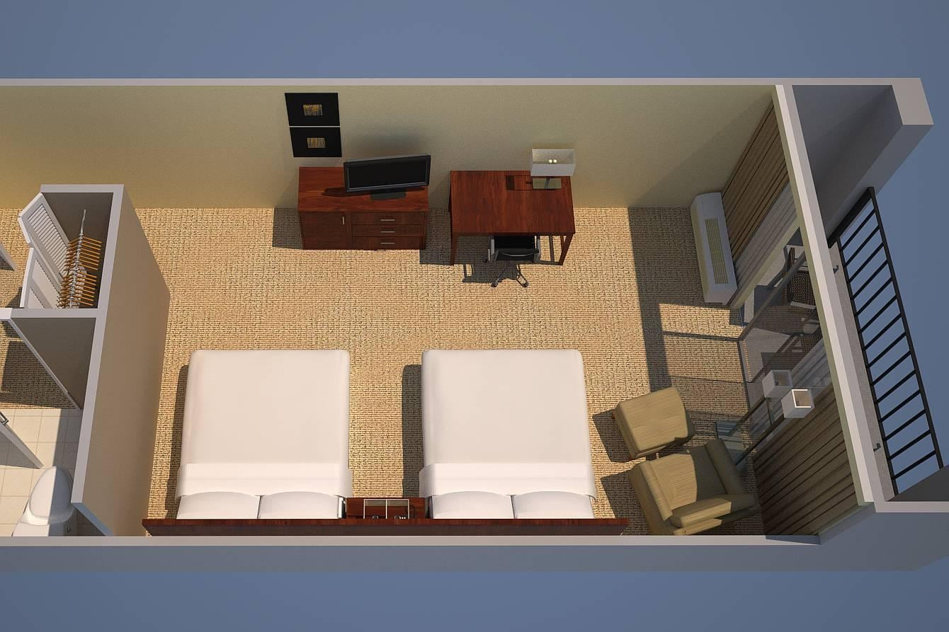 Courtyard or Pool View, Guest room, 2 Queen