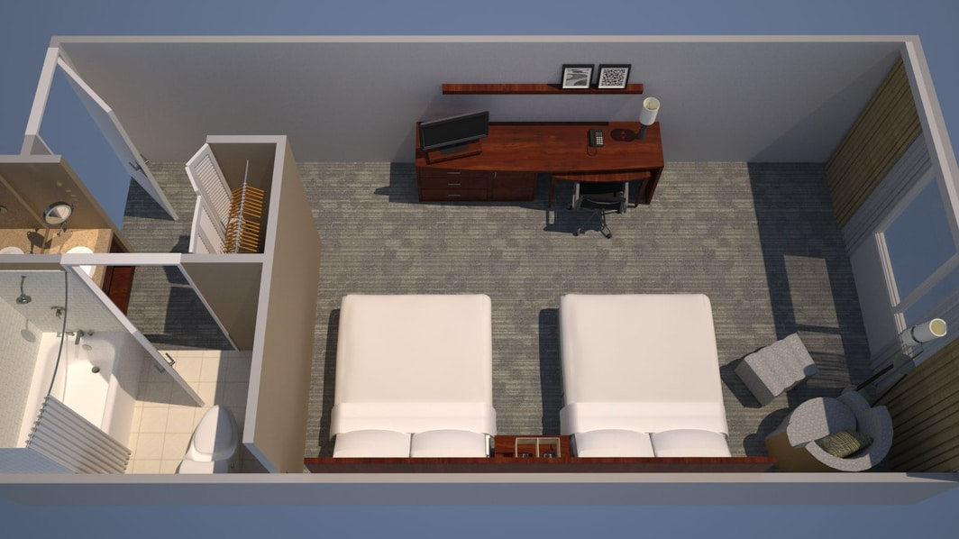 King Guest Room with Sofa Bed