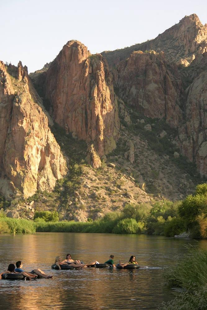 Tubing at Saguaro Lake