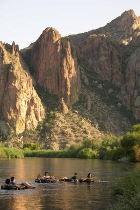 Tubing at Saguaro Lake