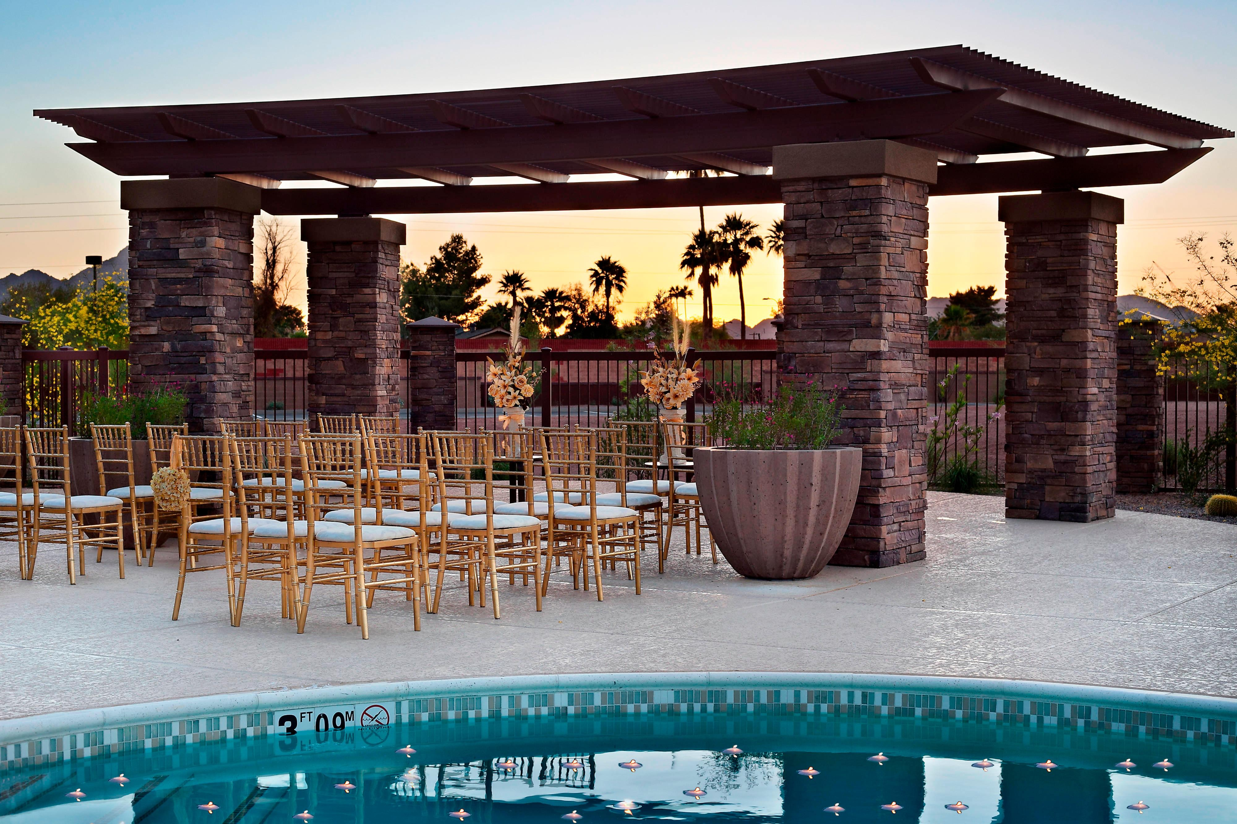 Courtyard Salt River Wedding