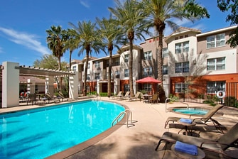 outdoor pool and pool chairs