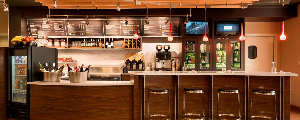 Food and Drinks available at the Bistro