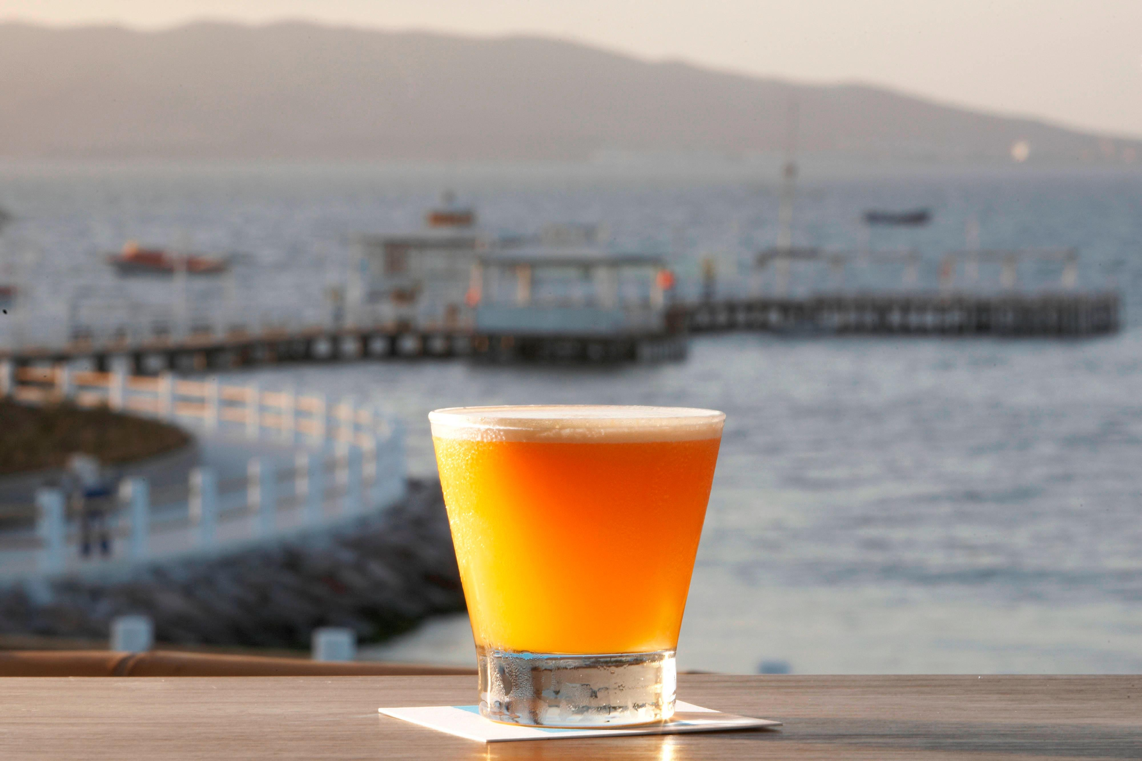Paracas Sour with Ocean Background