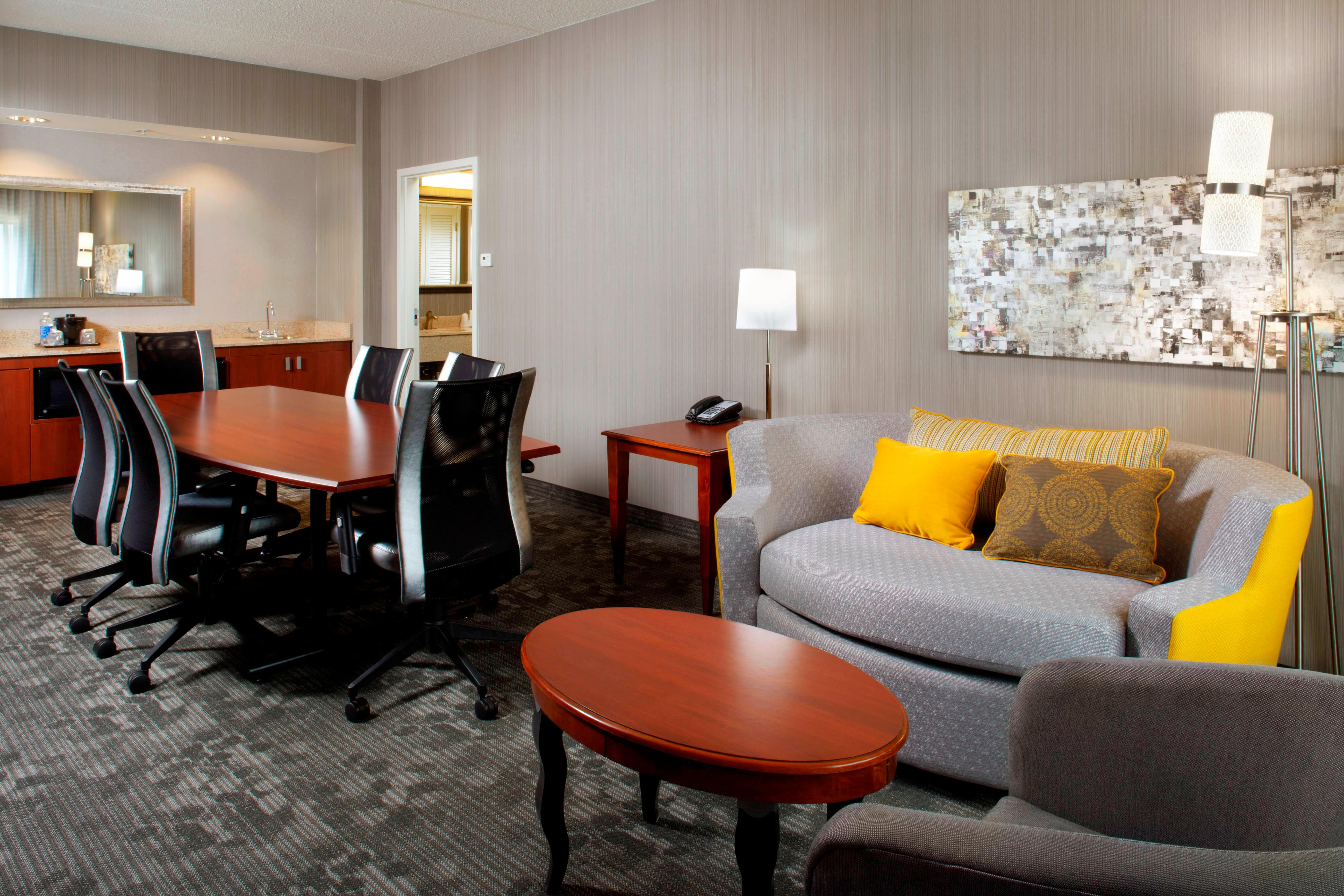 King Suite Boardroom & Living Area