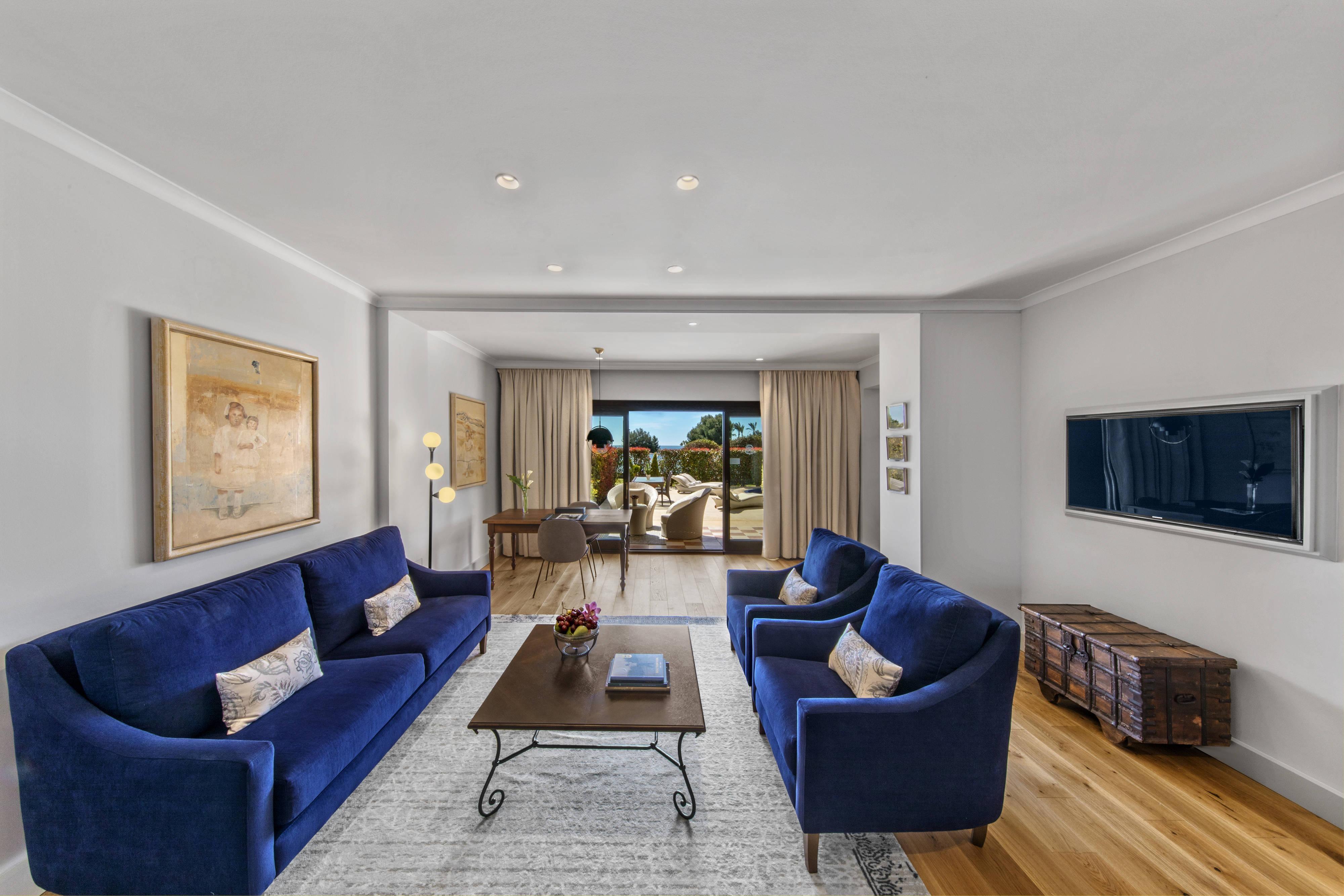 Suíte Blue Oasis – Sala de estar
