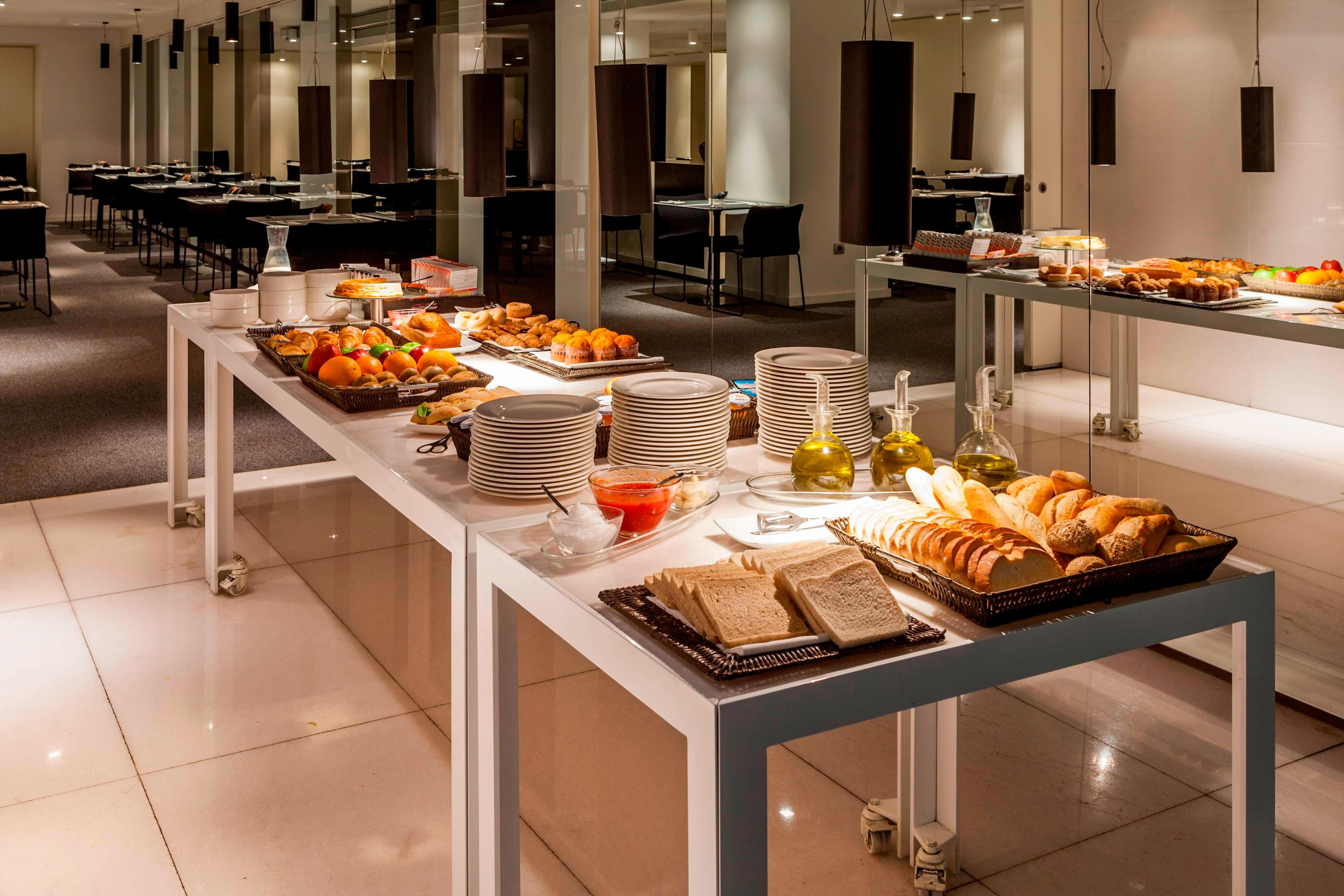 breakfast buffet in business hotel