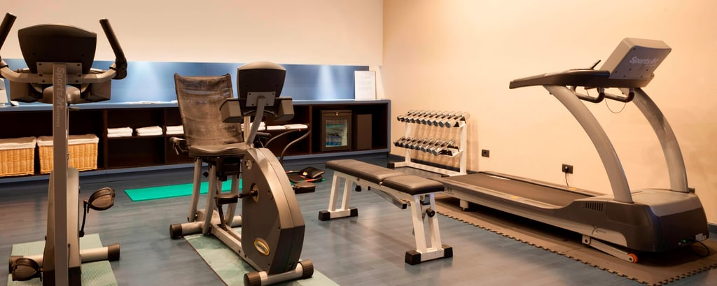 Area fitness dell'hotel di Pamplona