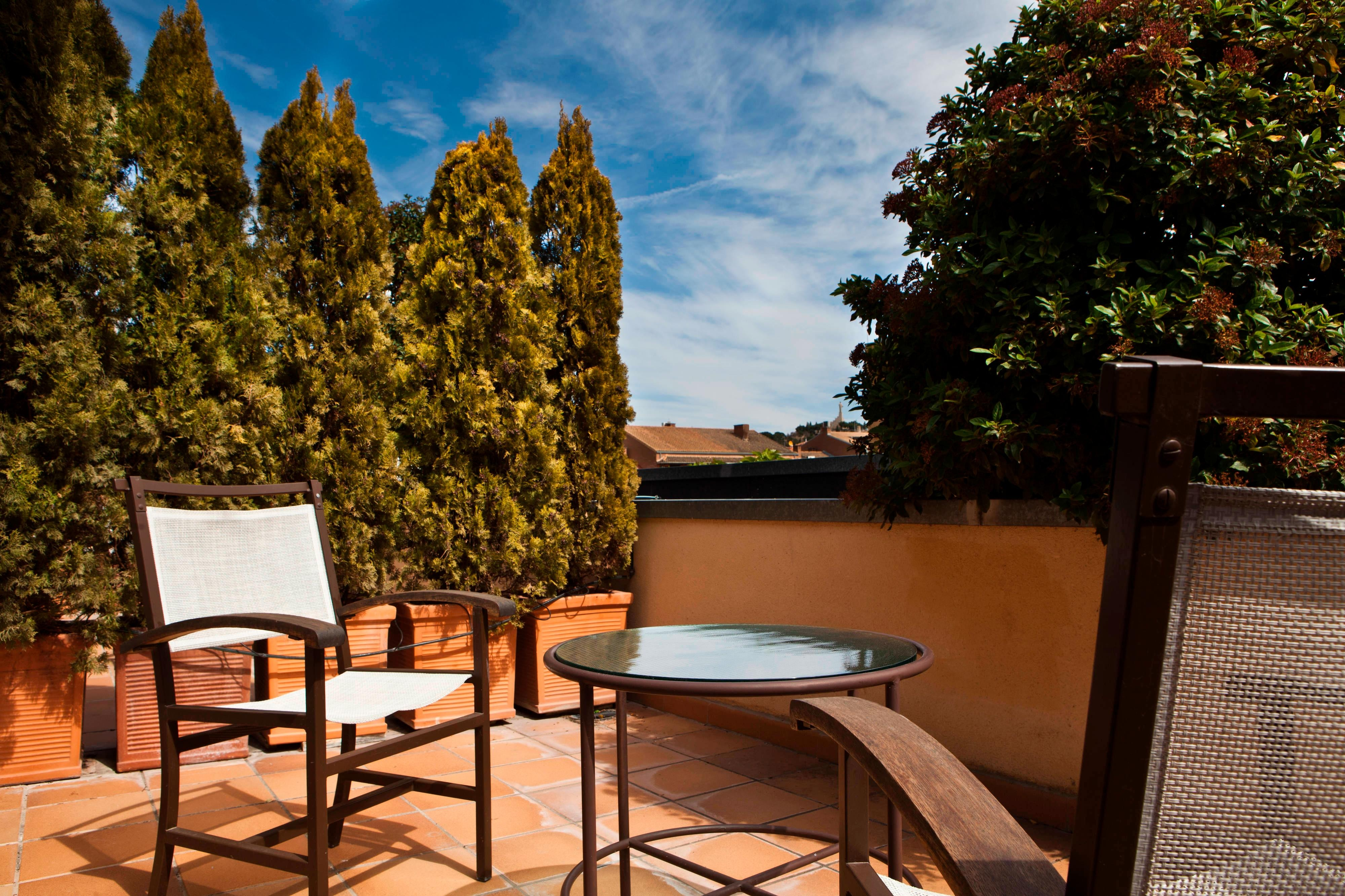 hotel terrace in tudela