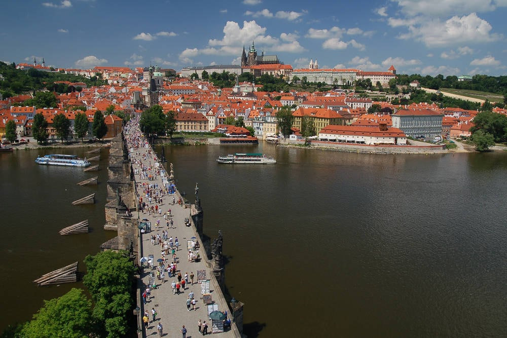 Charles Bridge & Prague Castle Vltava