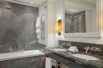 Bathroom - combination of shower and bathtub