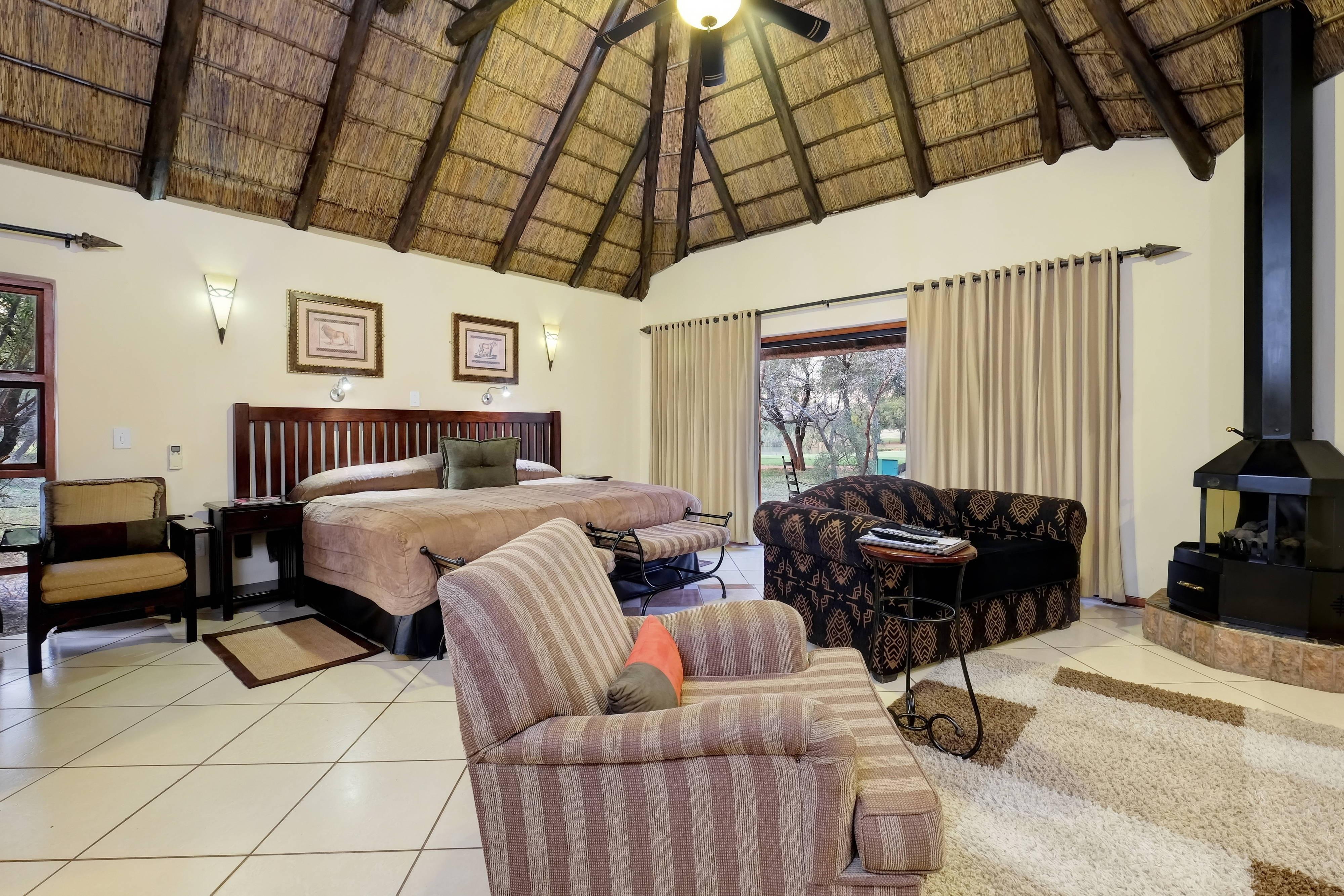 Bush Lodge Gästezimmer – Sitzbereich