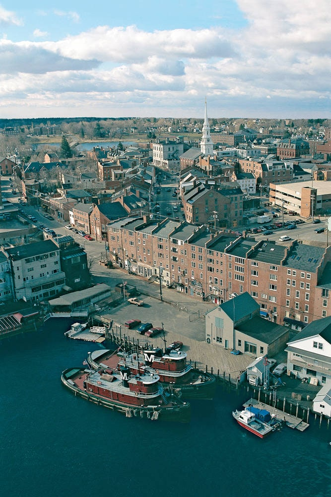 Aerial View of Portsmouth NH