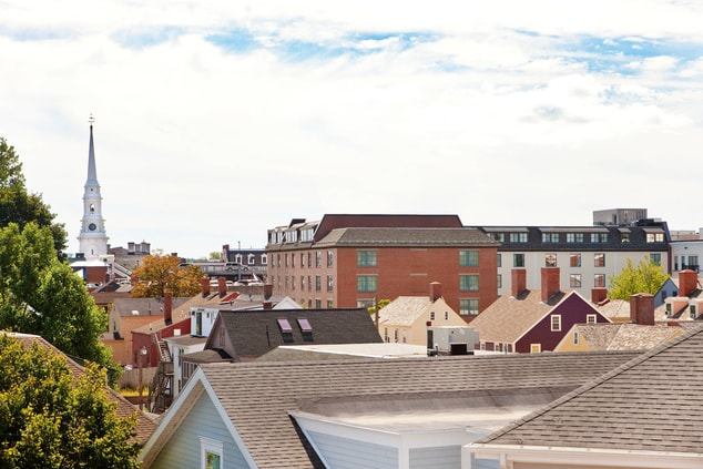 View of Roof Tops and North Church
