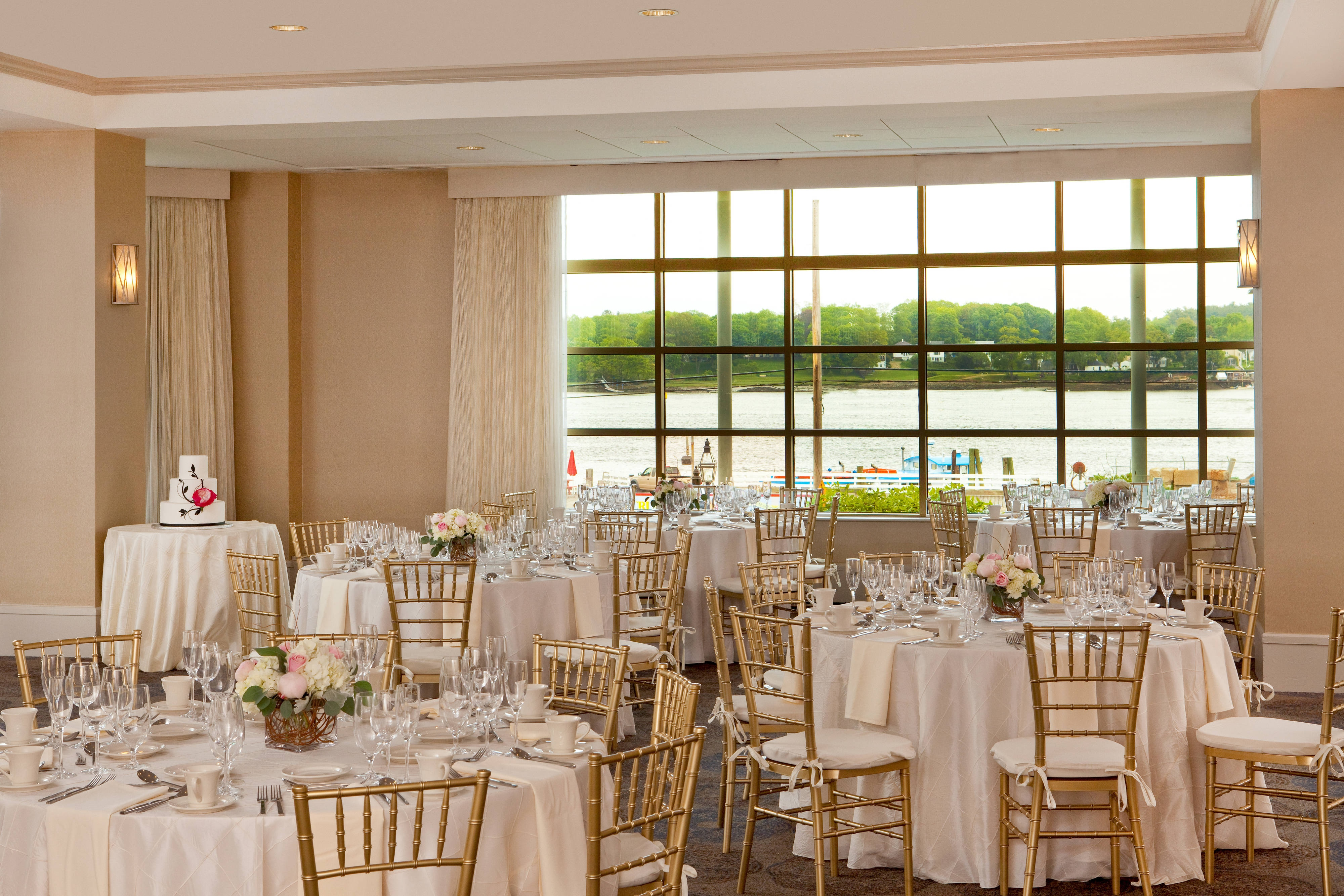 Harbors Edge Room Wedding Setting