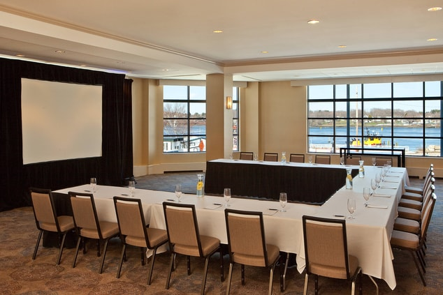 Harbor s Edge Room - set for U-Shaped Meeting