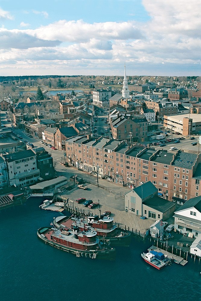 Aerial View of Portsmouth, NH