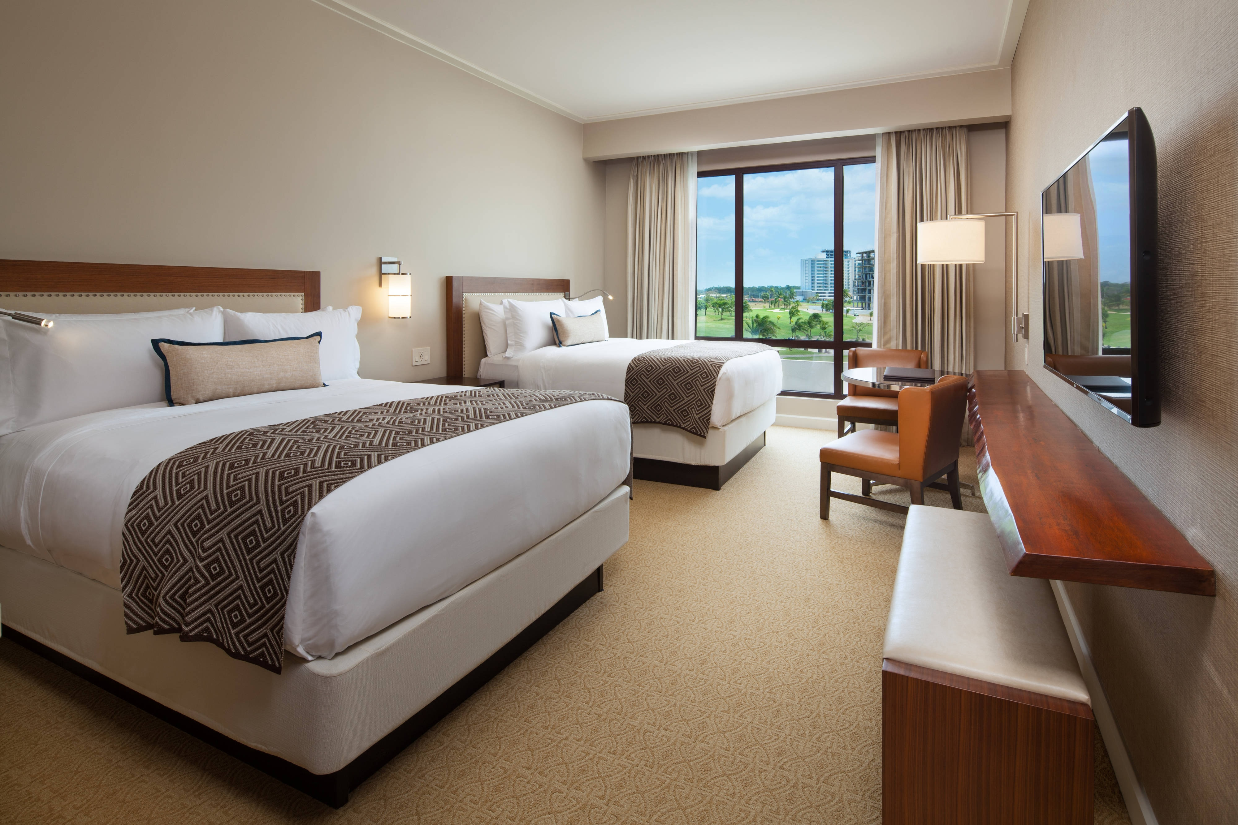 Double Queen Deluxe Room with Golf View