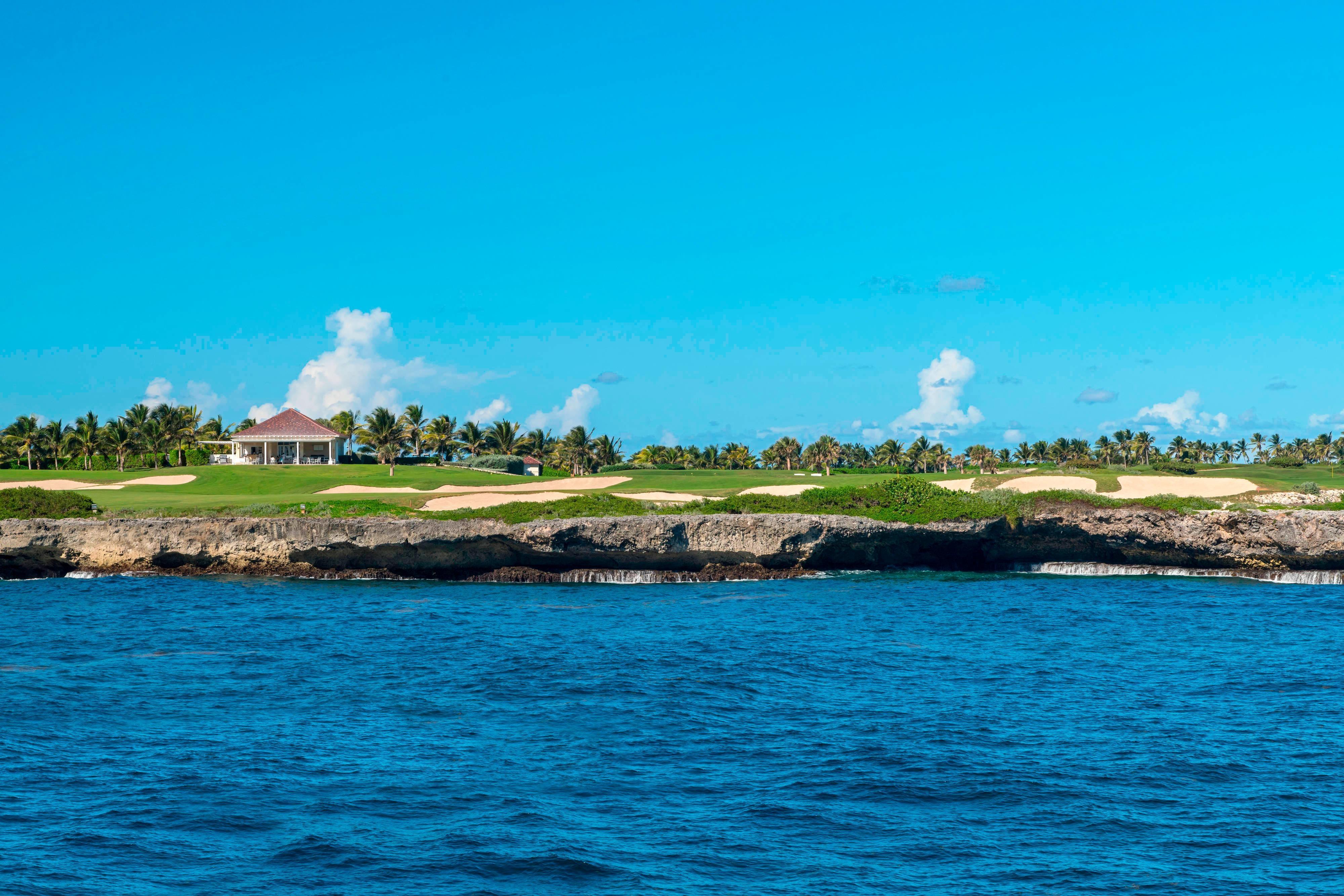 18e trou du terrain de golf Corales