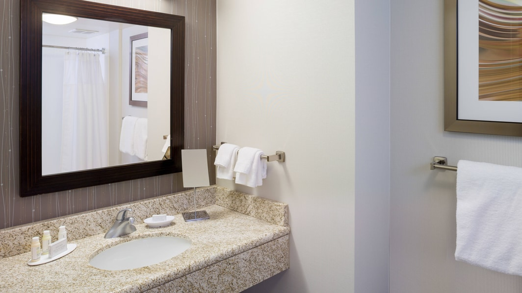 Courtyard Providence Deluxe King Guest Bathroom