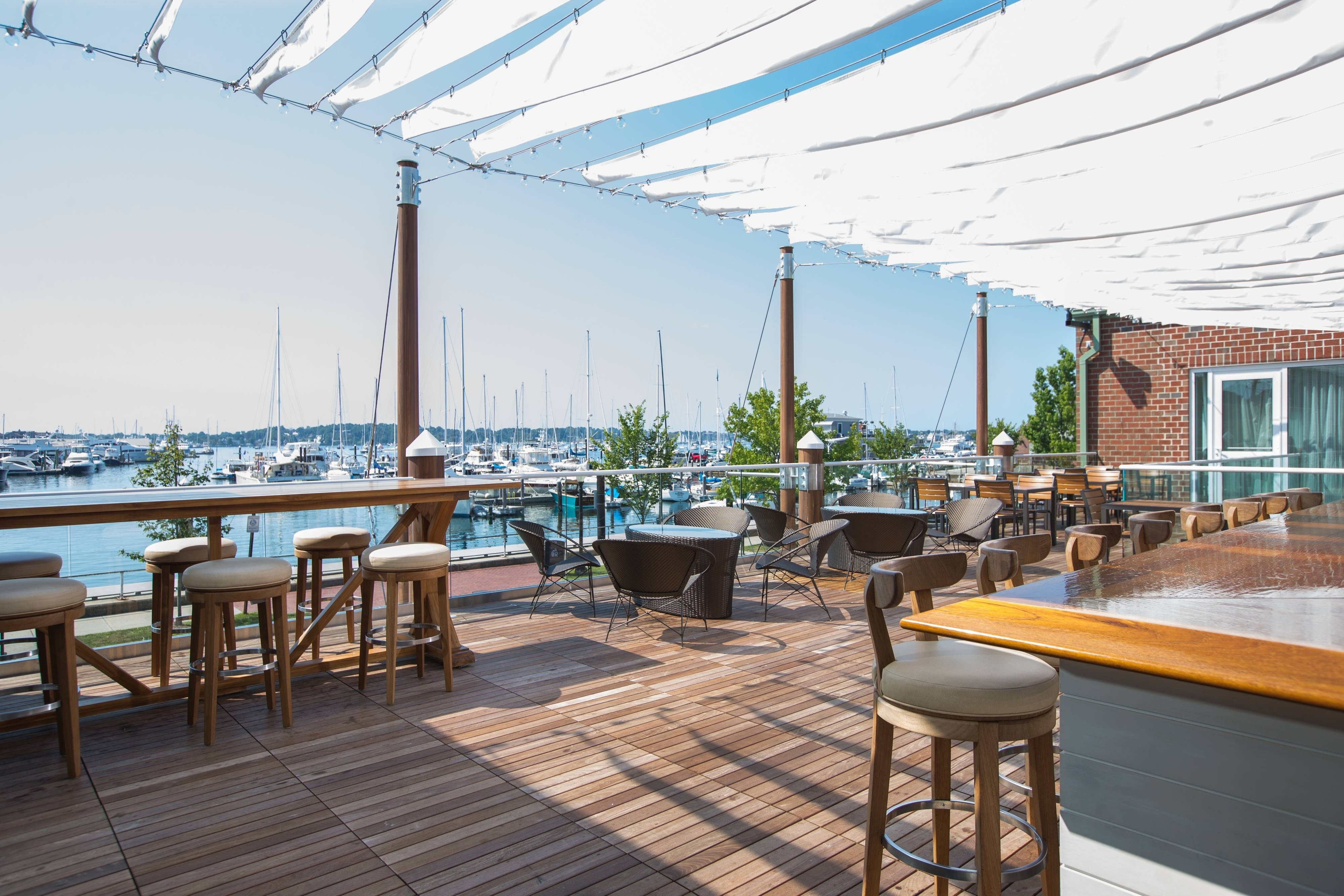 Newport Skiff Bar Outdoor Deck