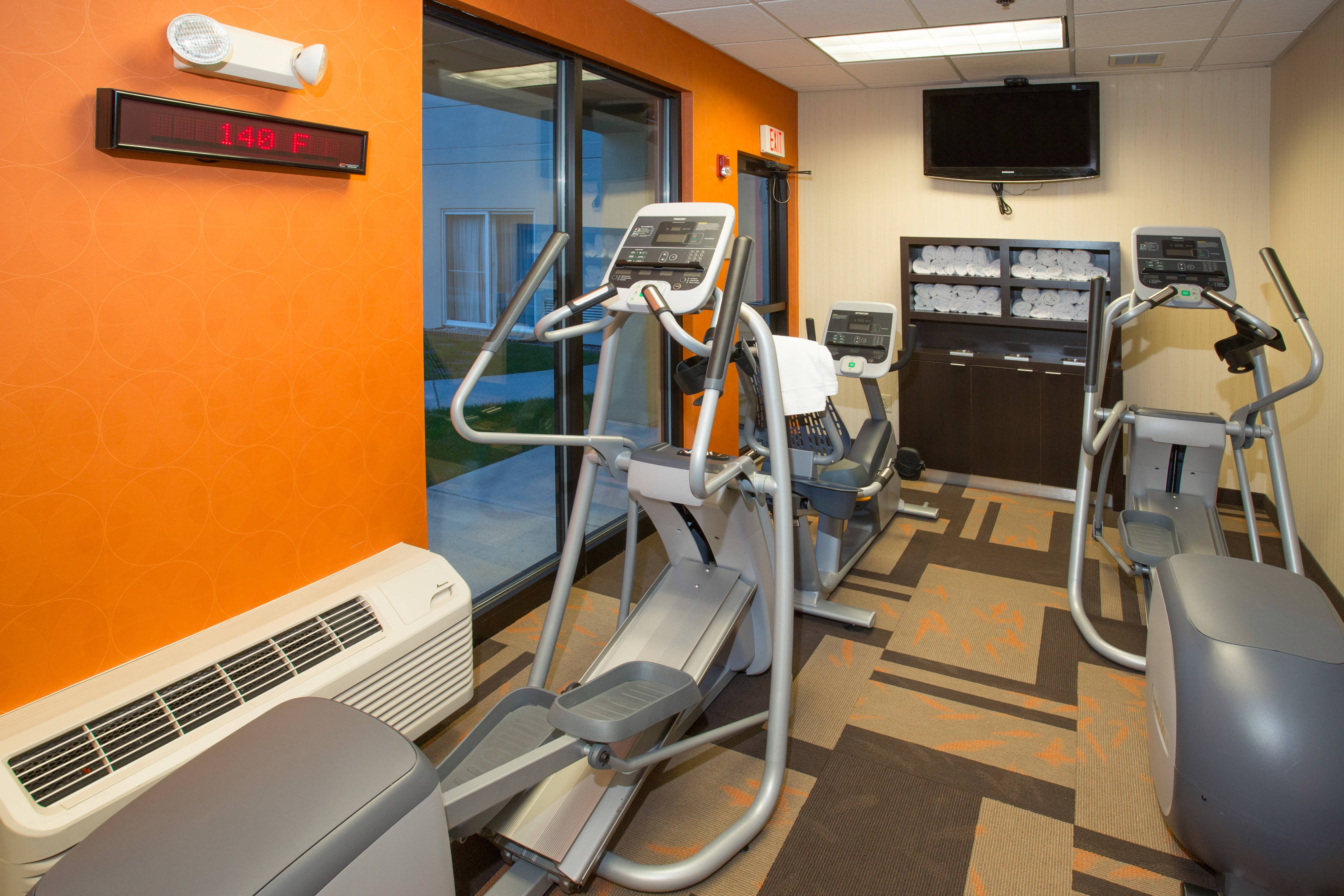 Boston Raynham Hotel Main Fitness Area.