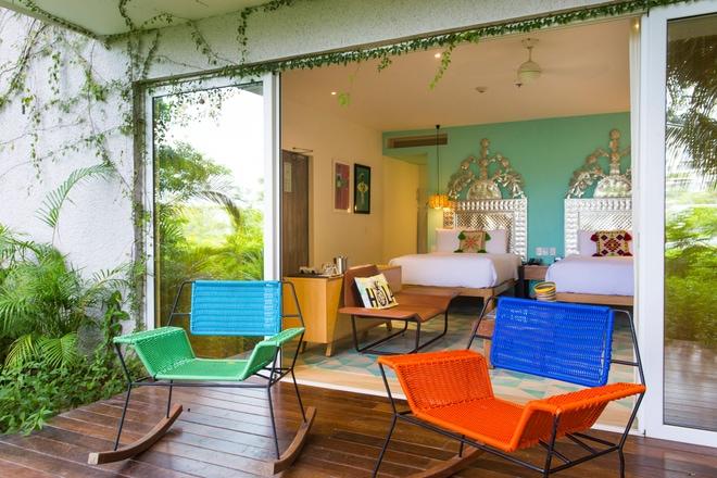 Habitación Spectacular Escape con vistas a la selva y dos camas dobles