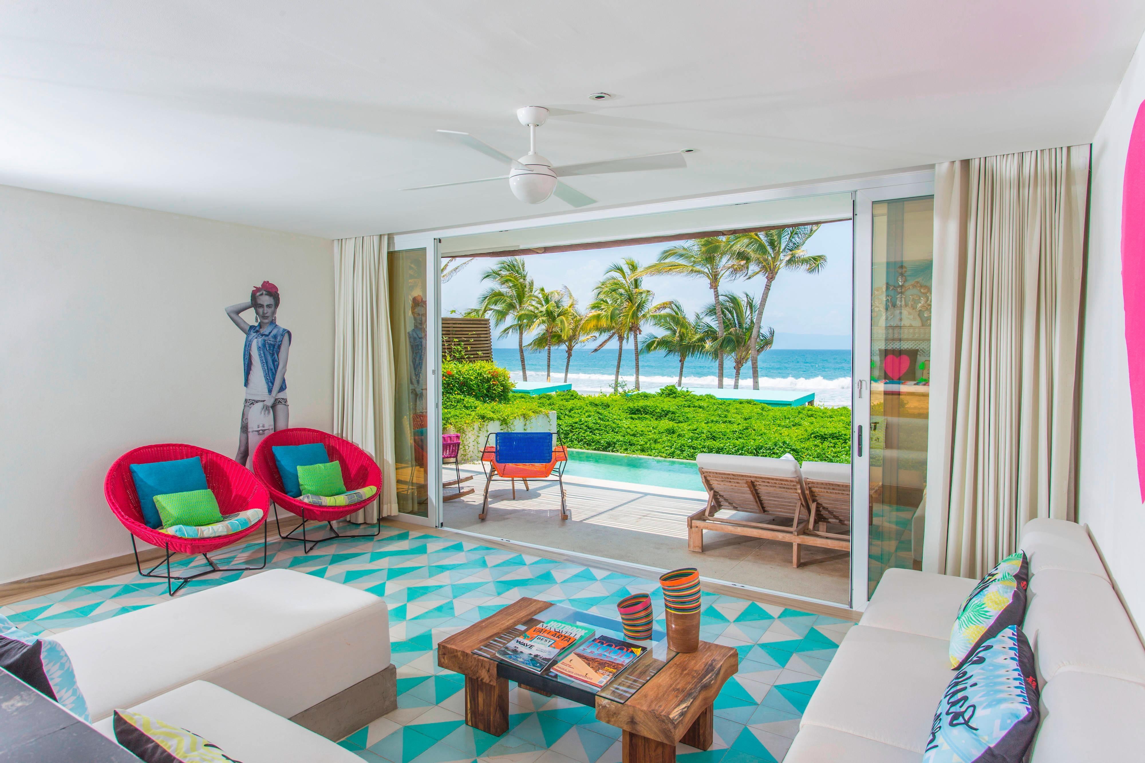 Suite Haven frente al mar - Sala de estar
