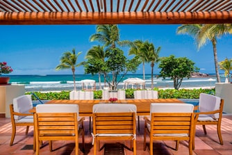 Three-Bedroom Beachfront Presidential Villa- Terrace