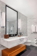 Your guest bathroom with luxury amenities
